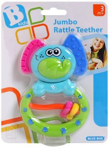 Rattle with teething ring