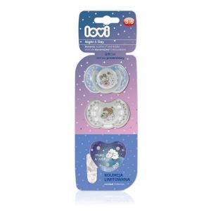 Day & Night 2pcs 3-6m Soother + Chain
