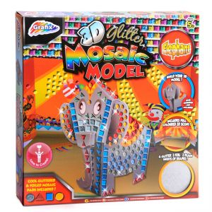 Mosaic 3D Model Elephant