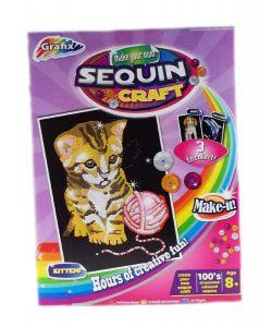 Sequin Craft Cat