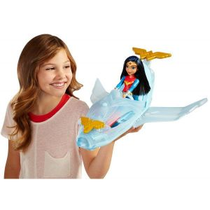 Wonder Woman & Invisible Jet Dolls