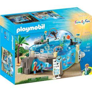 Aquarium with Fillable Water Enclosure