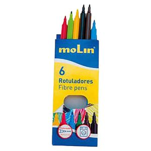 6 Colouring Markers