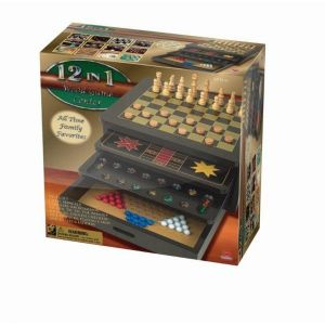 12-in-1 Wooden Game Centre Set