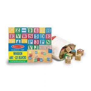Deluxe Wooden abc/123 Blocks Set