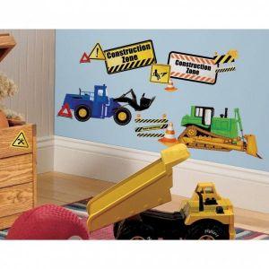 Construction Trucks Stick Wall