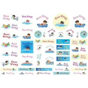 Swimmer Boys Labels