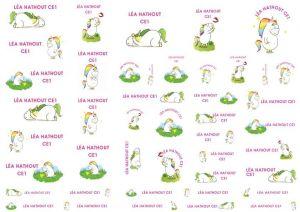Baby Unicorn Labels